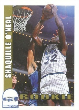 1992 Hoops #442 Shaquille O'Neal Basketball Card