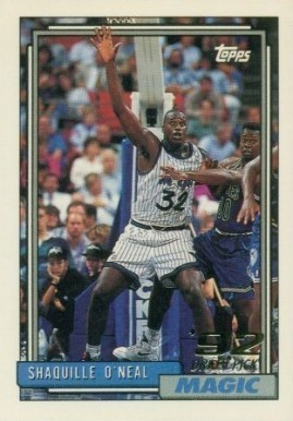 1992 Topps #362 Shaq Basketball Card