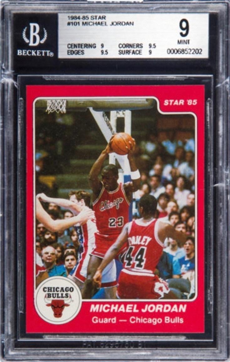 1984 Star #101 Michael Jordan Rookie Card Graded BGS 9
