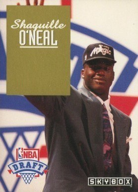 1992 SkyBox Draft Picks #1 Shaq O'Neal Rookie Card