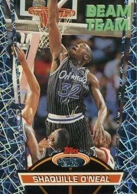 1992 Stadium Club Beam Team #21 Shaquille O'Neal Basketball Card
