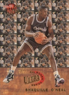 1992 Ultra All-Rookie #7 Shaq O'Neal Basketball Card