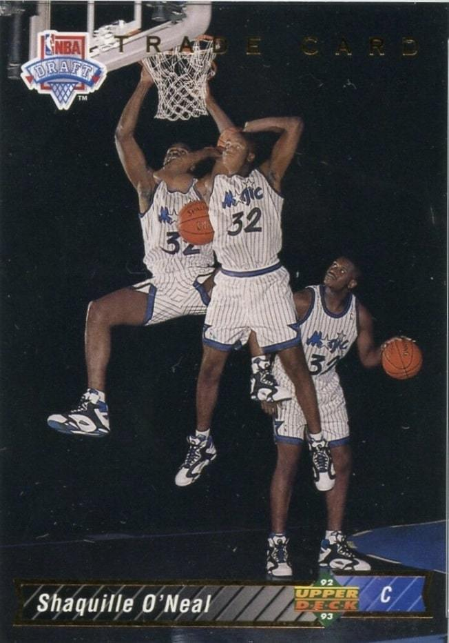 1992 Upper Deck #1B Shaq Trade Rookie Card