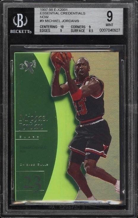 1997 Skybox EX2001 Essential Credentials Now Jordan Card