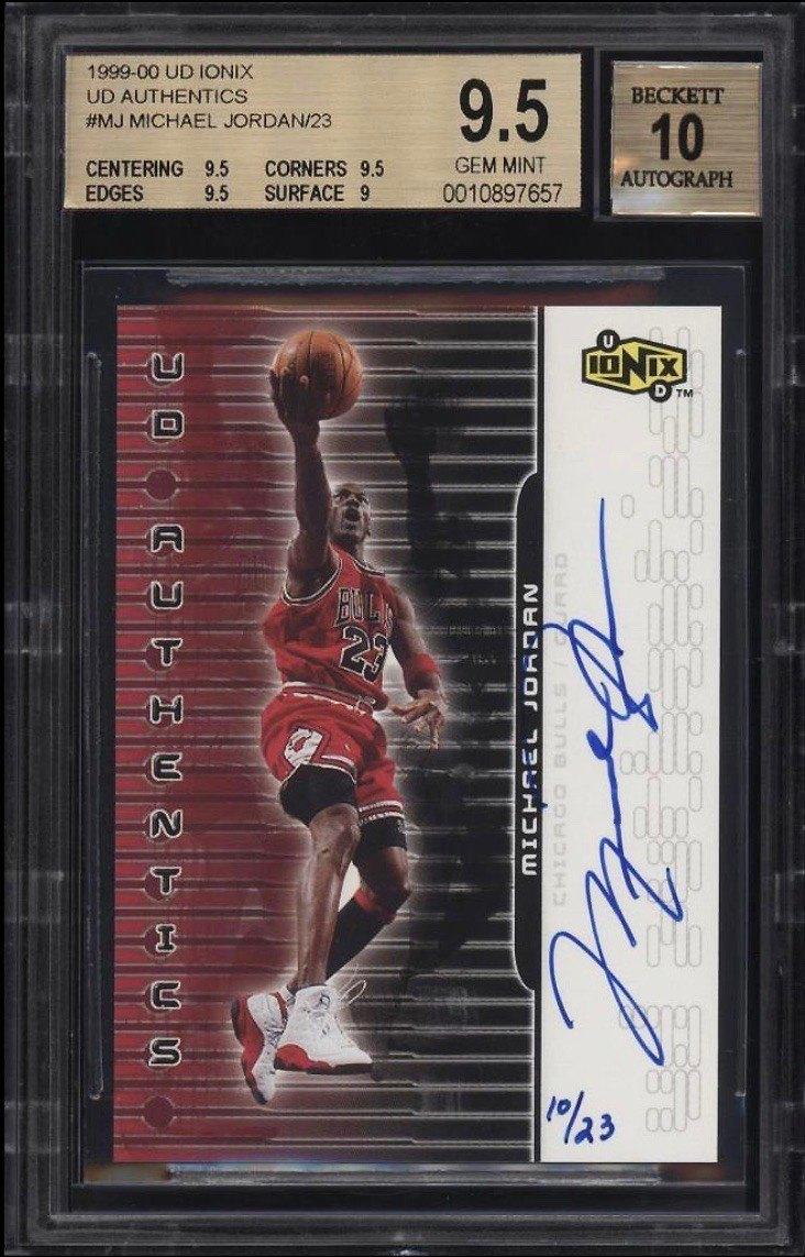 1999 Upper Deck Ionix UD Authentics Michael Jordan Card Auto :23