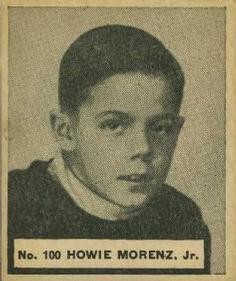 1937 World Wide Gum #100 Howie Morenz Jr. Hockey Card