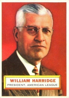 1956 Topps #1 William Harridge Baseball Card