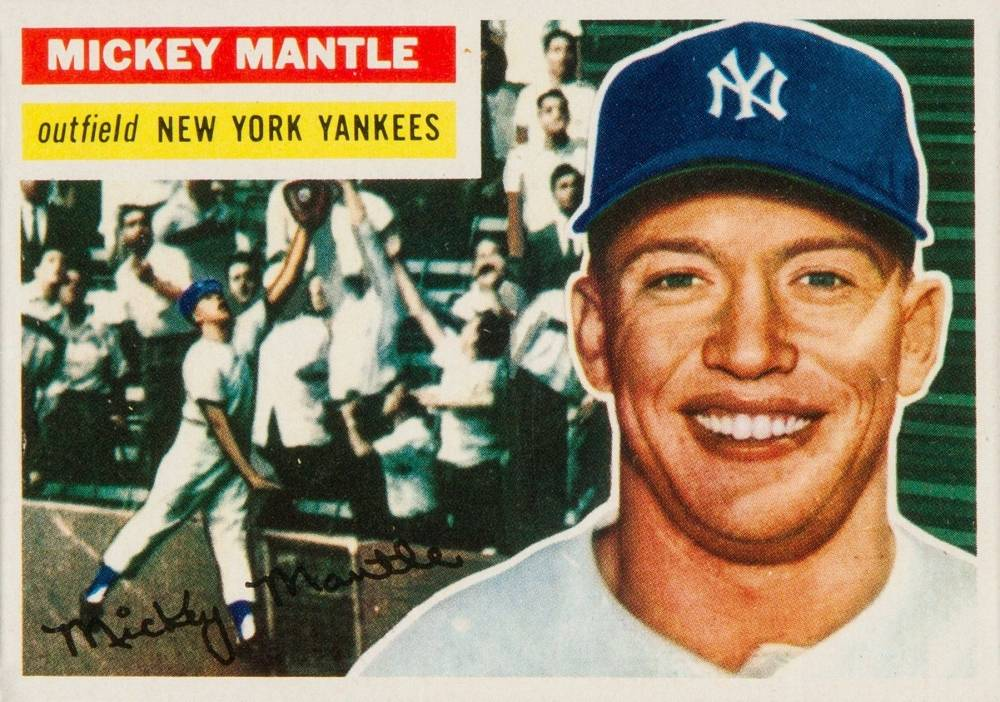1956 Topps #135 Mickey Mantle Baseball Card