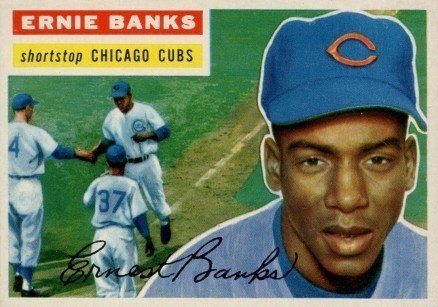 1956 Topps #15 Ernie Banks Baseball Card