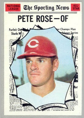 1970 Topps #458 Pete Rose All-Star Baseball Card