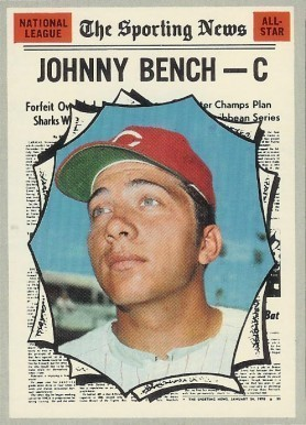 1970 Topps #464 Johnny Bench All-Star Baseball Card