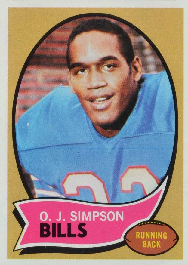 1970 Topps #90 O.J. Simpson Rookie Card