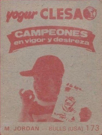 1985 Merchante #173 Michael Jordan Card Reverse Side With Advertisement