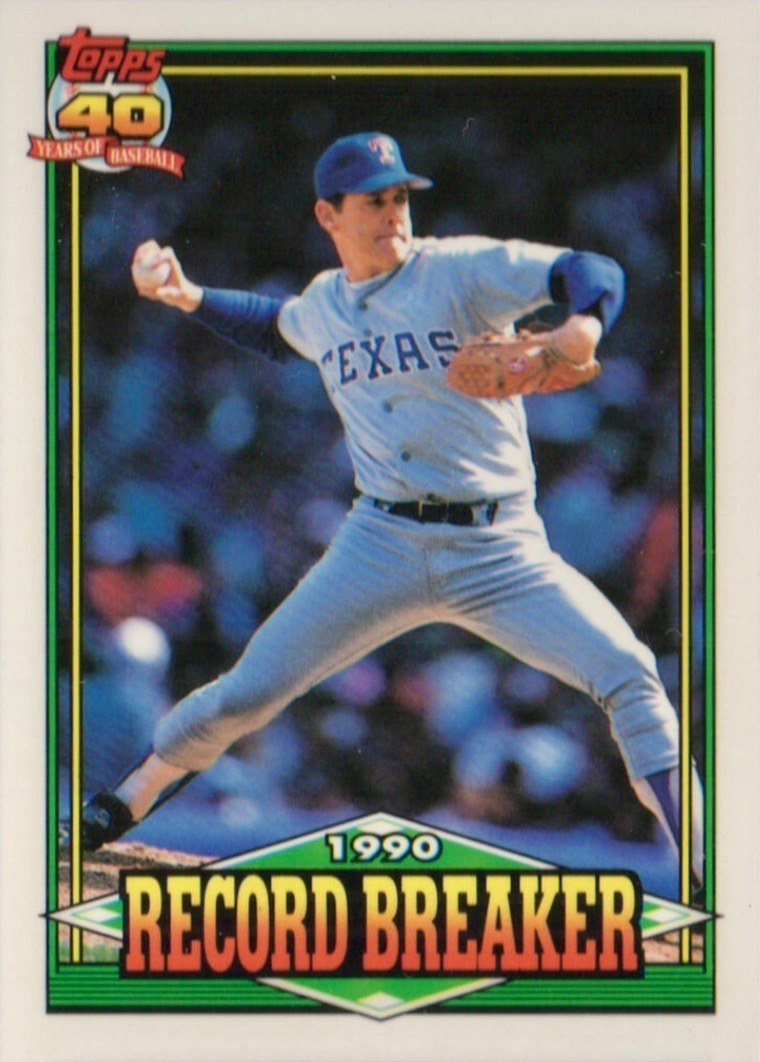 1991 Topps #6 Nolan Ryan Record Breaker Baseball Card