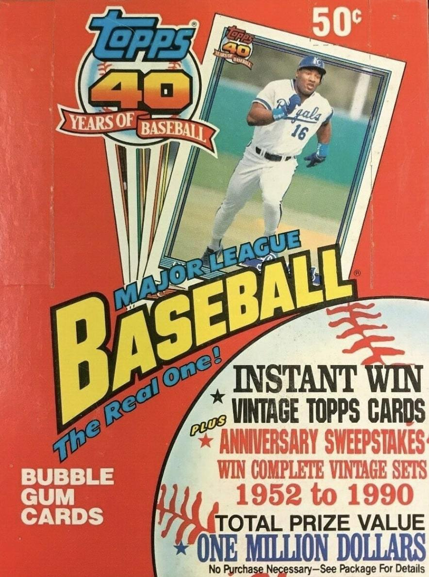 Unopened Box of 1991 Topps Baseball Cards