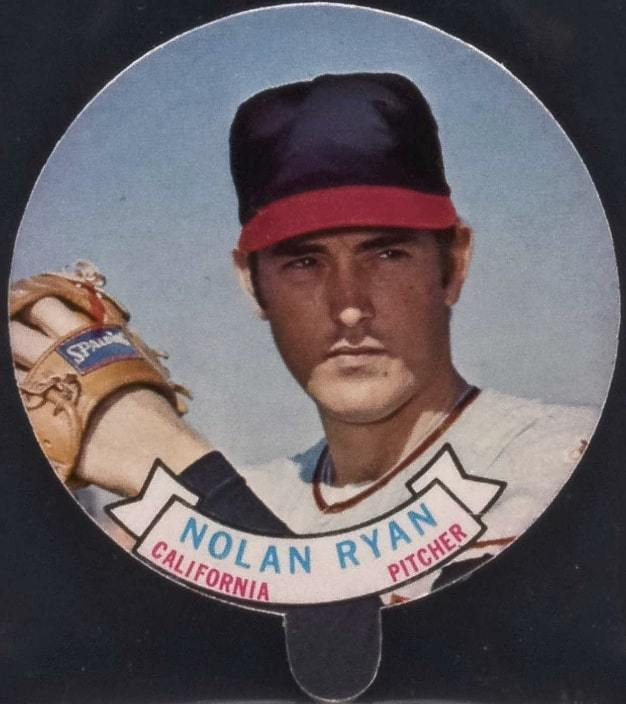 1972 Topps Candy Lids Test Issue Nolan Ryan Baseball Card