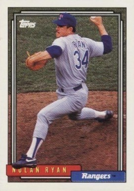 1992 Topps #1 Nolan Ryan Baseball Card