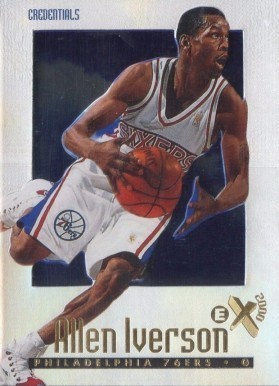 1996 Skybox EX2000 Credentials #53 Allen Iverson Rookie Card