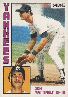 1984 O-Pee-Chee #8 Don Mattingly Rookie Card