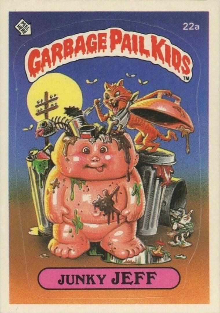 1985 Garbage Pail Kids Card #22a Junky Jeff