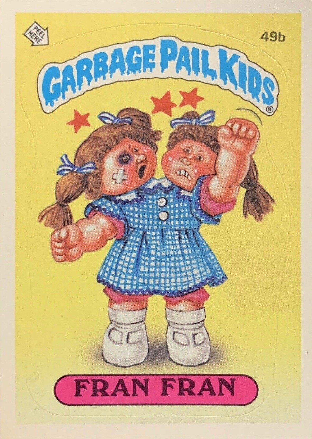 1985 Garbage Pail Kids Card #49b Fran Fran