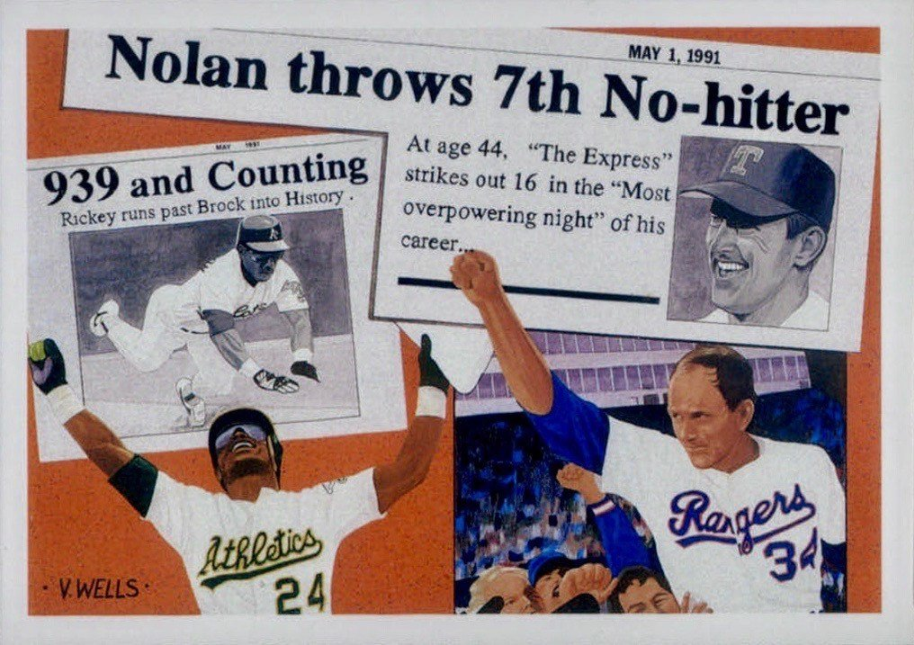 1991 Upper Deck #SP2 Rickey Henderson and Nolan Ryan A Day To Remember