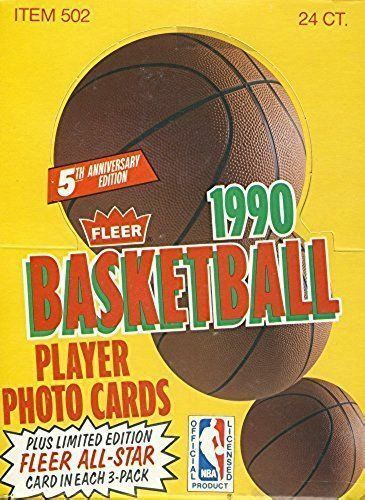 Unopened Box of 1990 Fleer Basketball Cards