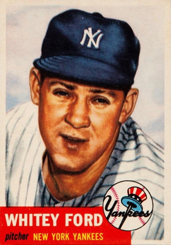 1953 Topps #207 White Ford Baseball Card