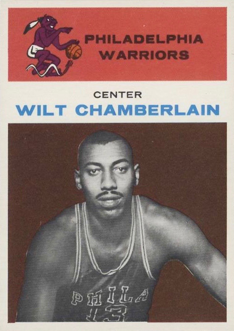 1961 Fleer #8 Wilt Chamberlain Rookie Card