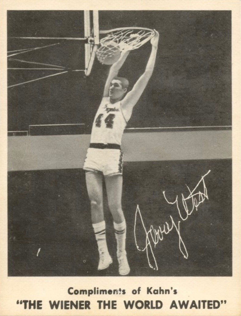 1963 Kahn's Wieners #11 Jerry West Basketball Card
