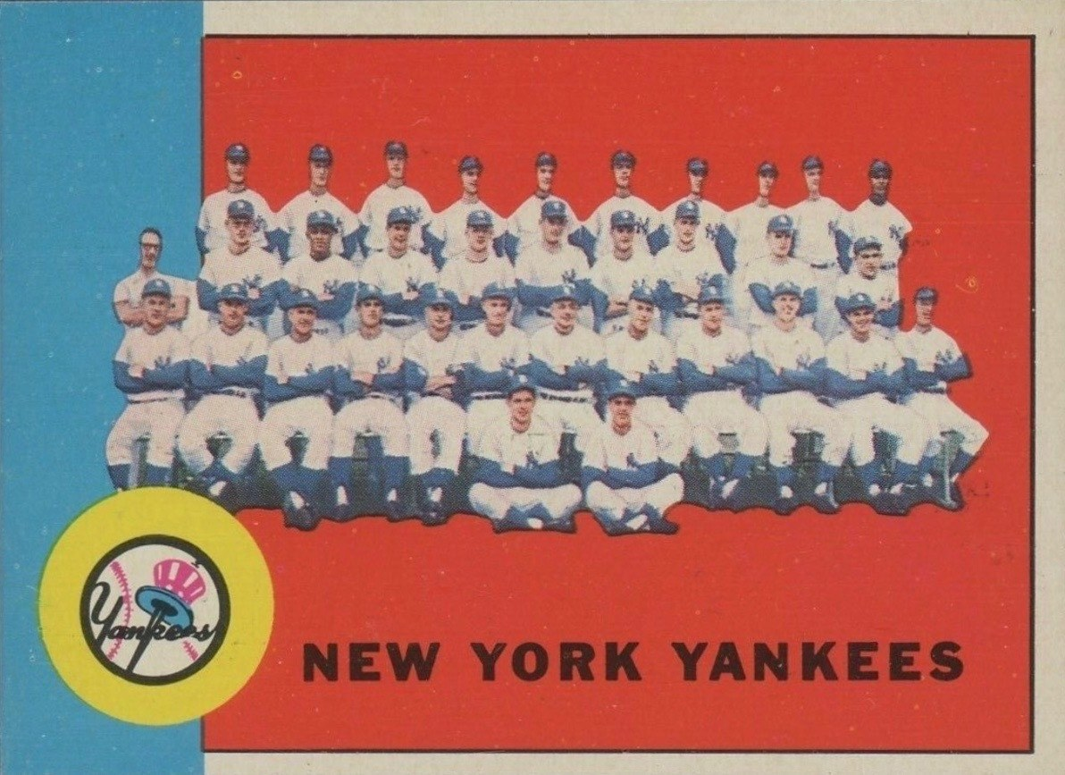 1963 Topps #247 Yankees Team Card