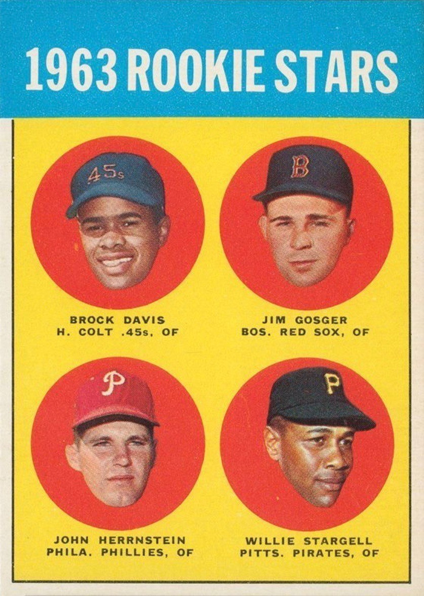 1963 Topps #553 Willie Stargell Rookie Card