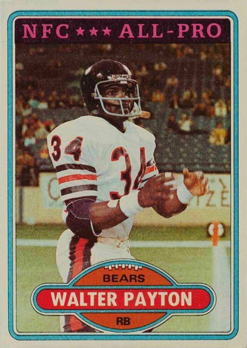 1980 Topps #160 Walter Payton Football Card