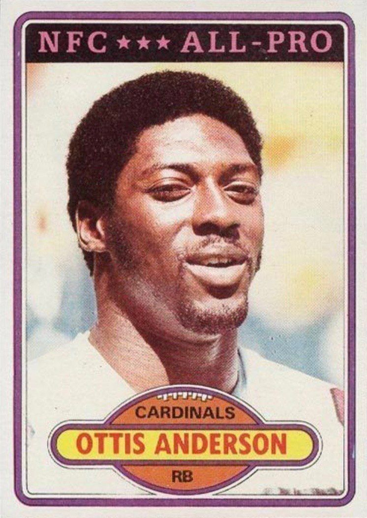 1980 Topps #170 Ottis Anderson Rookie Card