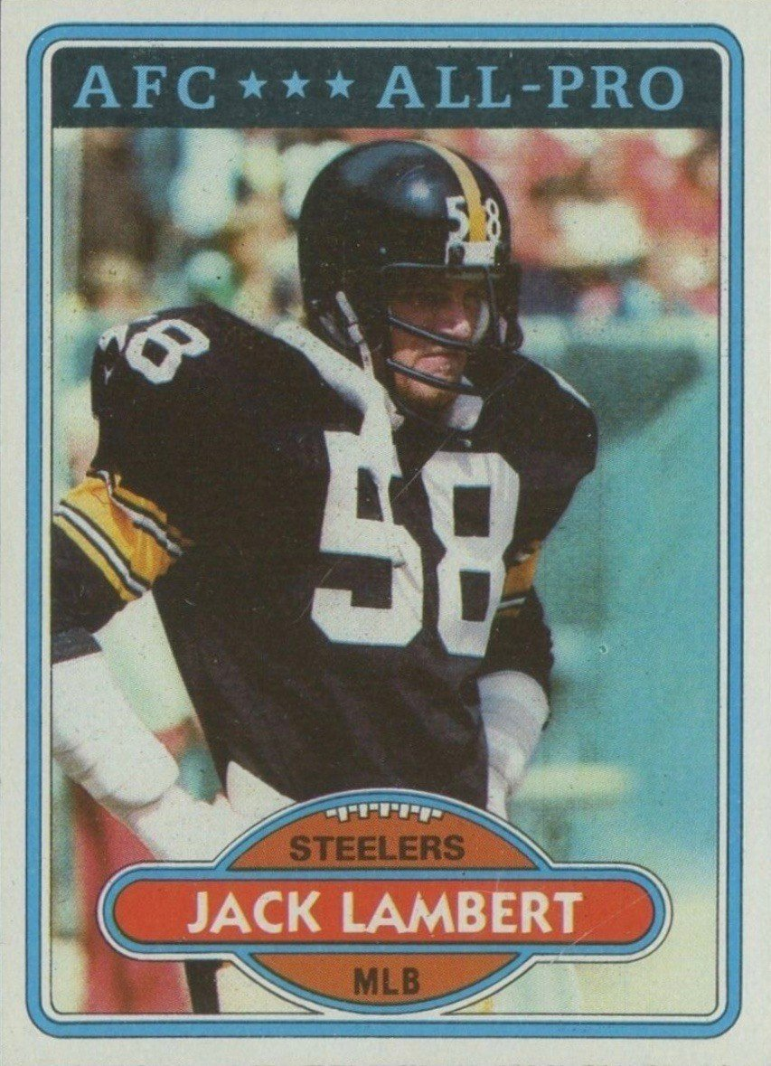 1980 Topps #280 Jack Lambert Football Card