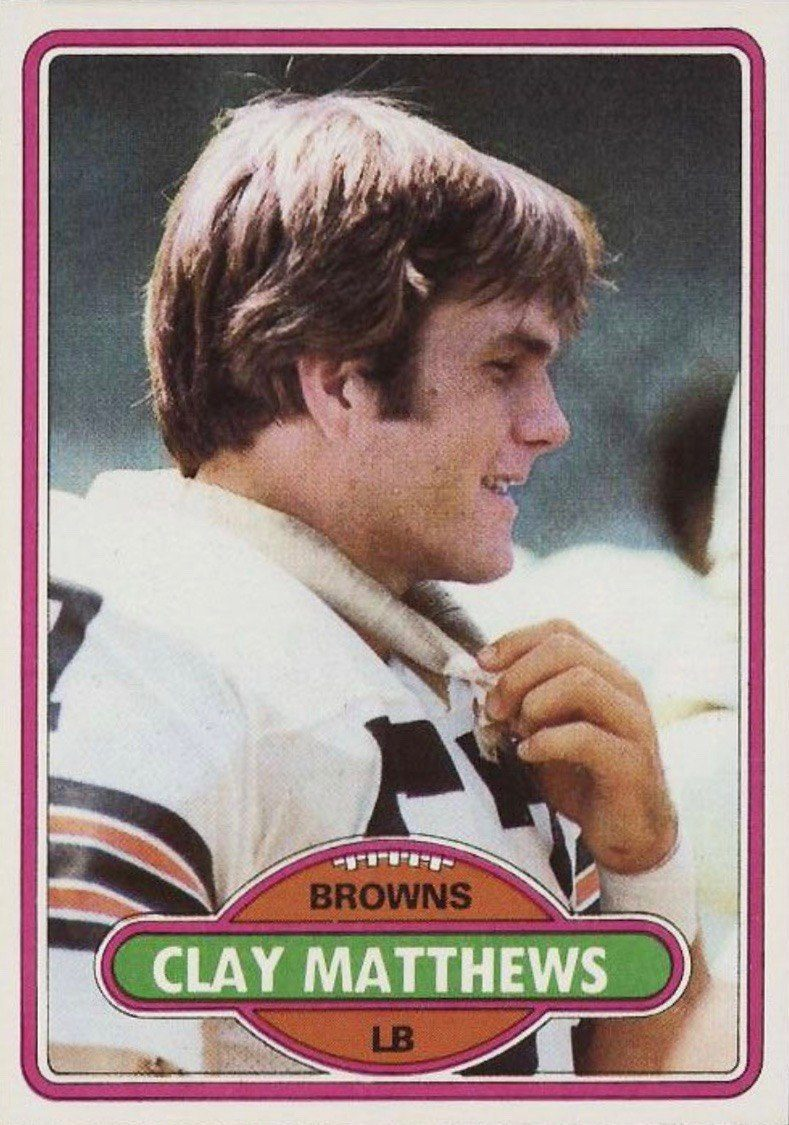 1980 Topps #418 Clay Matthews Rookie Card