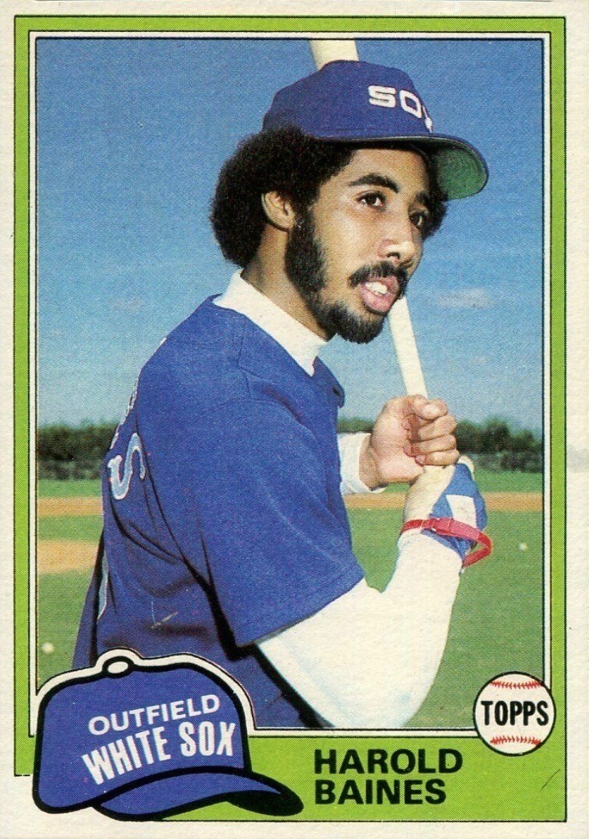 1981 Topps #347 Harold Baines Rookie Card