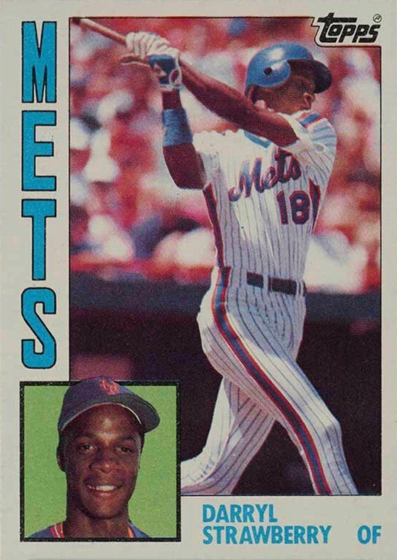 1984 Topps #182 Darryl Strawberry Rookie Card