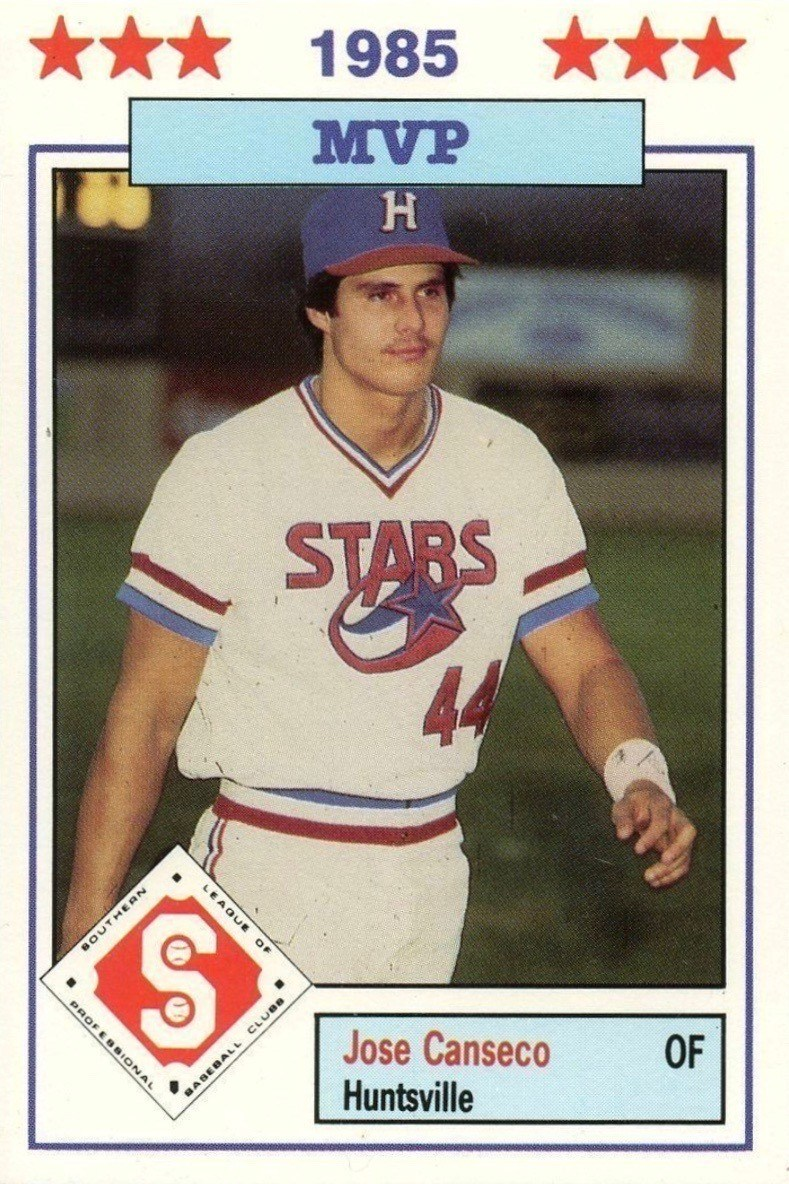 1986 Don Jennings #14 Jose Canseco Baseball Card