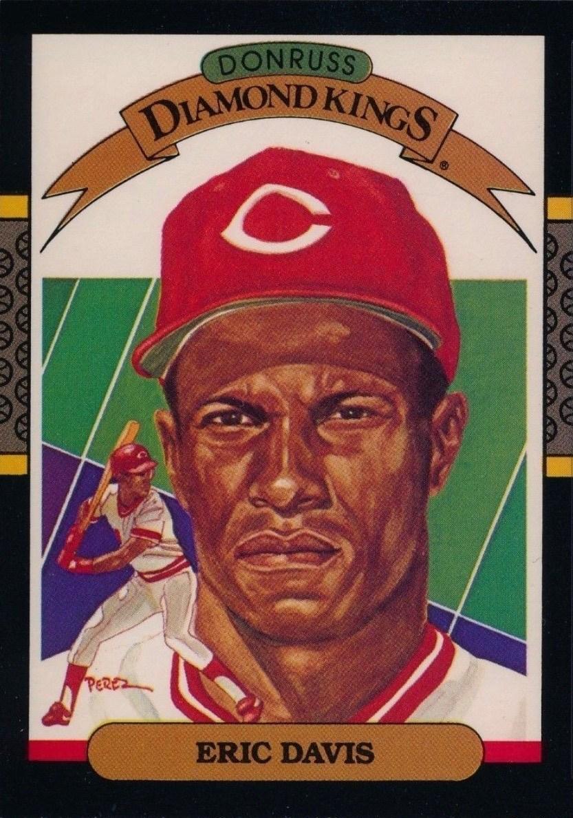 1987 Donruss #22 Eric Davis Diamond King Baseball Card