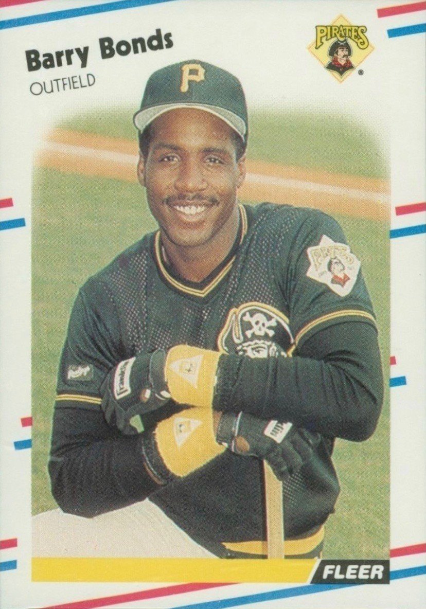 1988 Fleer #322 Barry Bonds Baseball Card