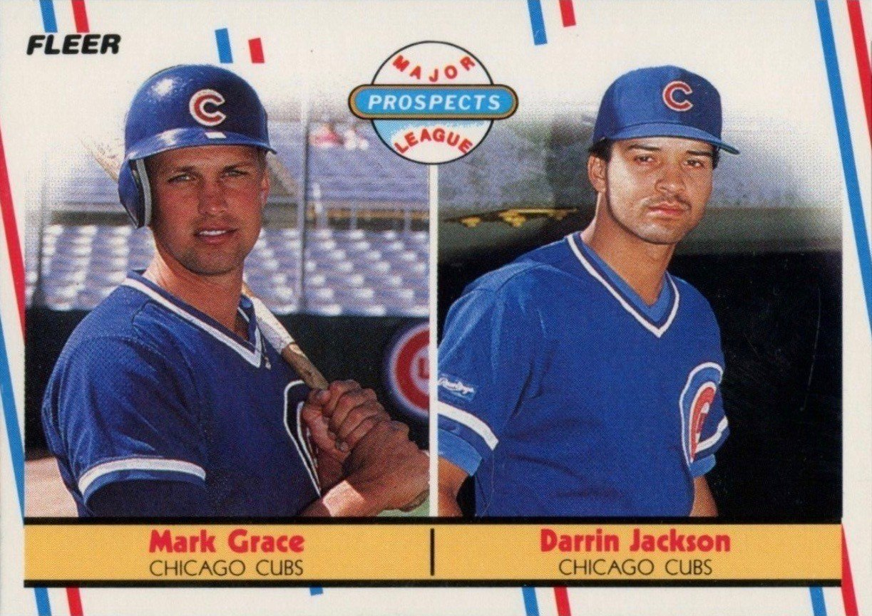 1988 Fleer #641 Major League Prospects Mark Grace Rookie Card