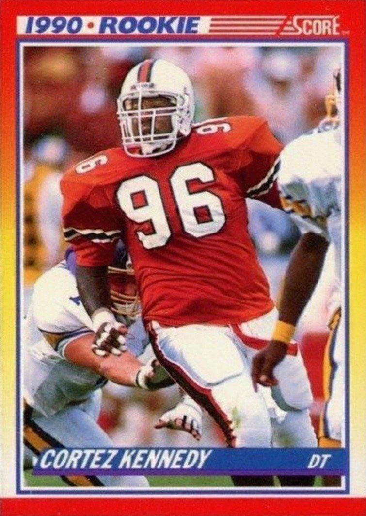 1990 Score #299 Cortez Kennedy Rookie Card
