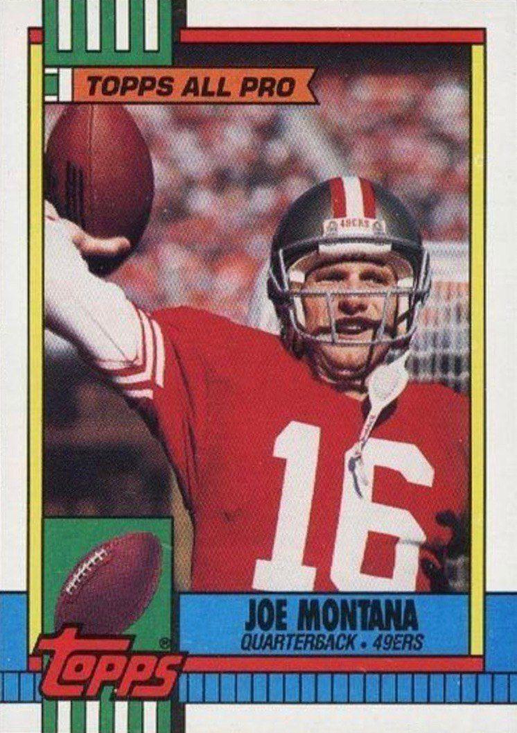 1990 Topps #13 Joe Montana Football Card