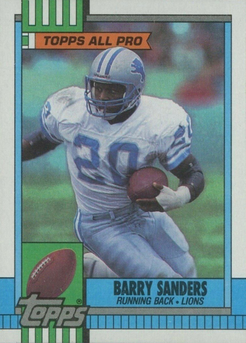 1990 Topps #252 Barry Sanders Football Card
