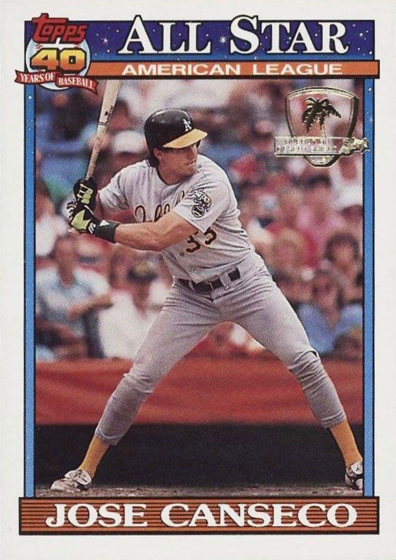 1991 Topps Desert Shield #390 Jose Canseco Baseball Card