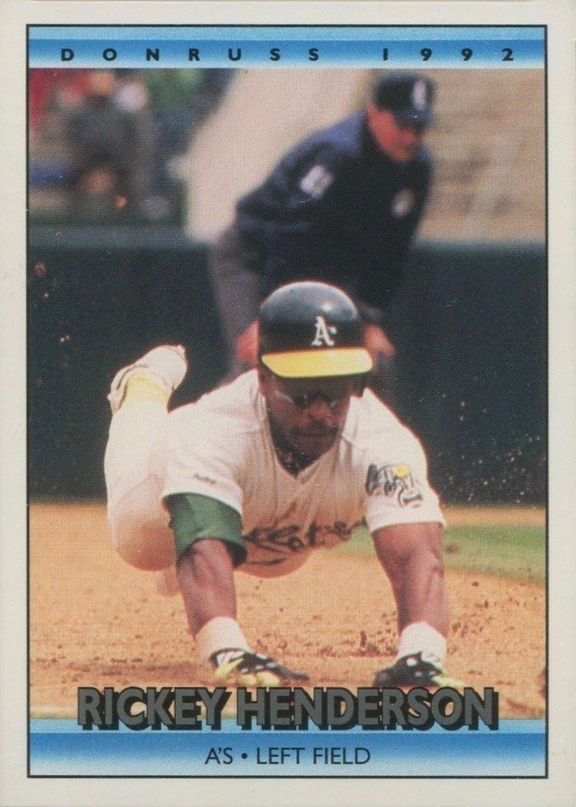 1992 Donruss #193 Rickey Henderson Baseball Card