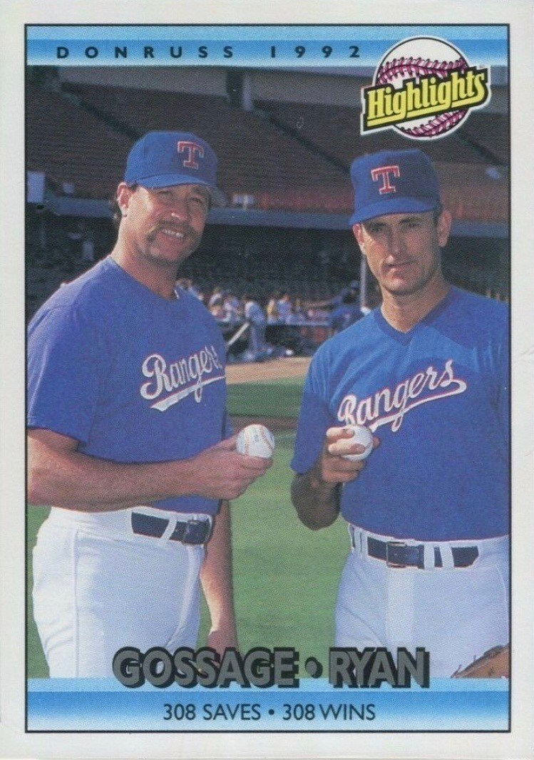 1992 Donruss #555 Goose Gossage and Nolan Ryan Baseball Card