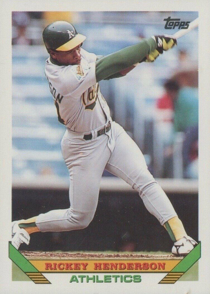 1993 Topps #750 Rickey Henderson Baseball Card