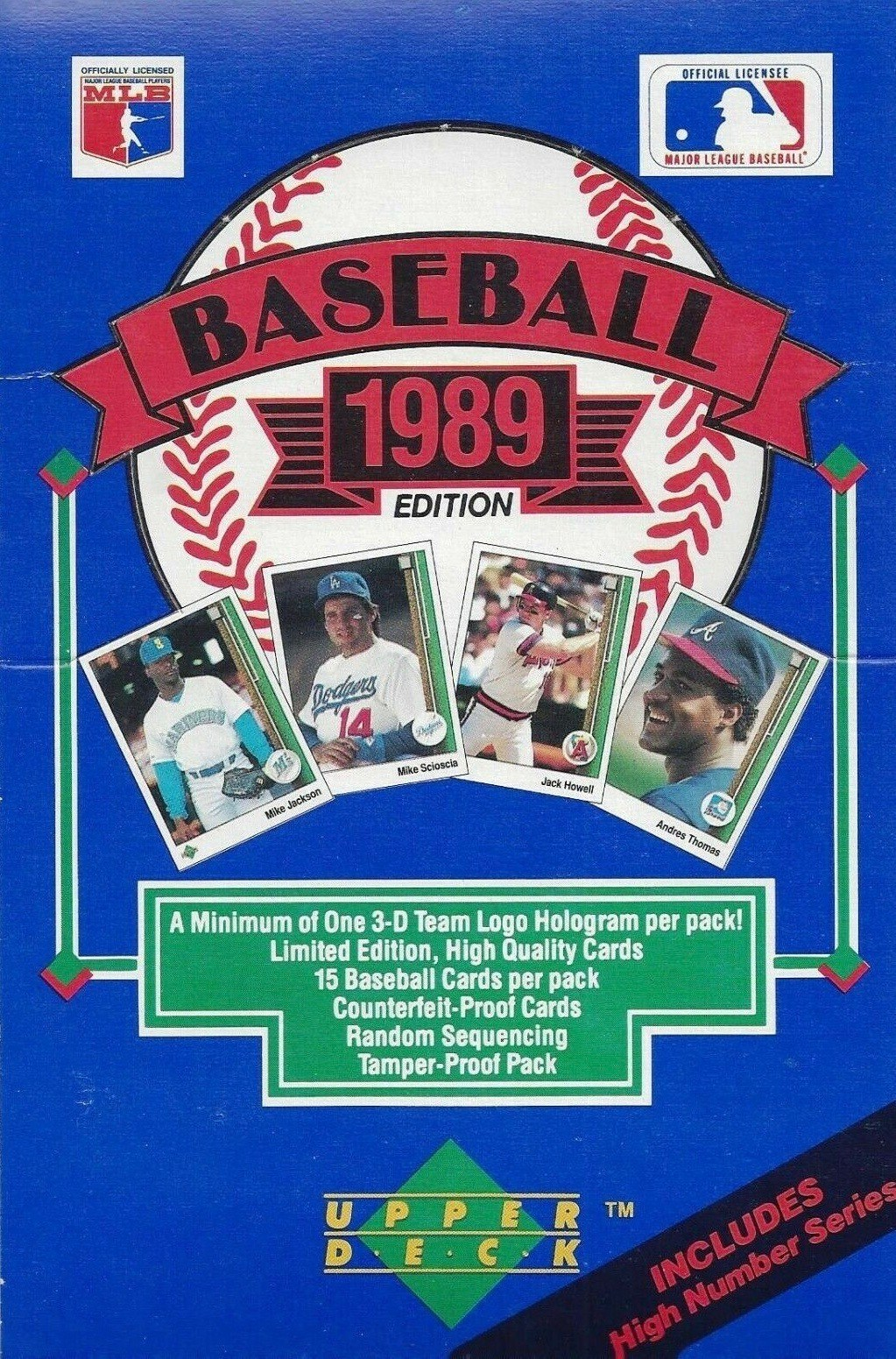 Original Unopened Box of 1989 Upper Deck Baseball Cards